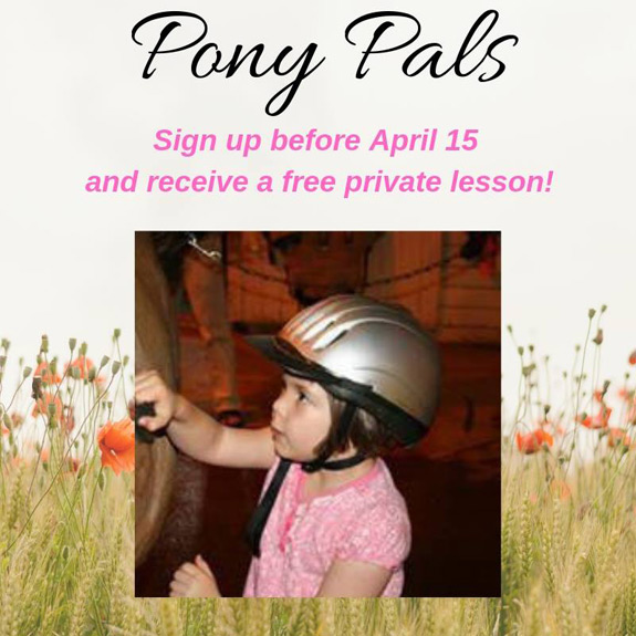 Sign your child up for our Pony Pals program!